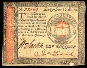 1779 Revolutionary Currency