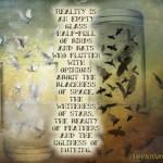 EMPTY GLASS HALF-FULL
