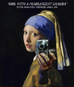 GIRL WITH A PEARLESCENT CAMERA (after Vermeer)