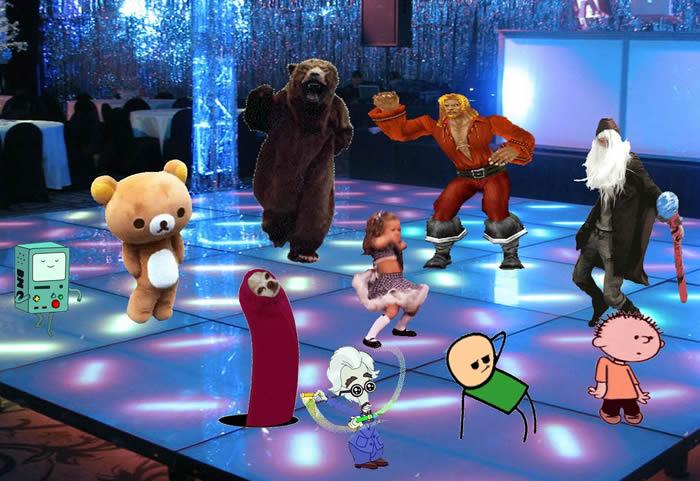 GIF DANCE FLOOR Dance Party Gif