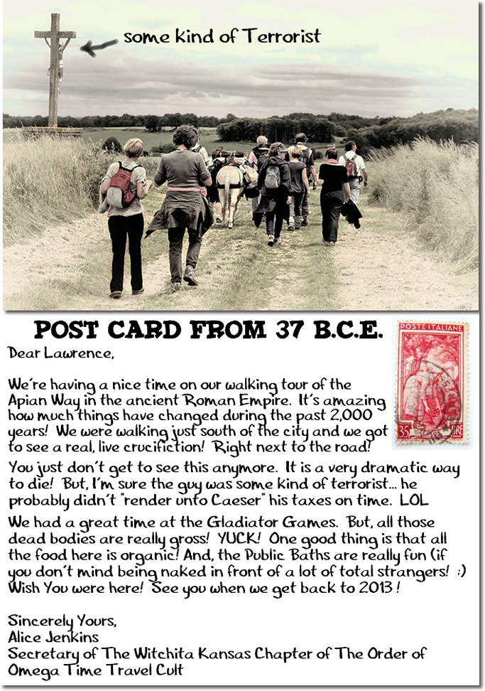 POSTCARD FROM 37 BCE