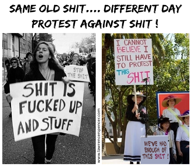 PROTEST AGAINST SHIT