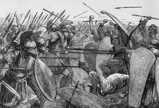 Plataea, Greece --- Spartans at Plataea. --- Image by © Bettmann/CORBIS