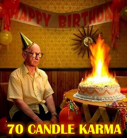 70 candle karma